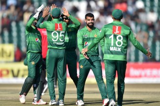 Shadab Khan said he would rather shatter the stumps than hit a six out the ground