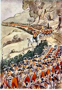 Barrell's Regiment of British Foot (painting by Major R.M. Barnes)