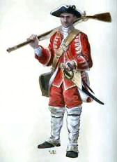 Private of the 33rd regiment of Foot (Johnson's).Painting by Christopher Pyrah