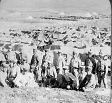 Japanese camp outside Port Arthur