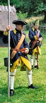 Swedish pike man and grenadier