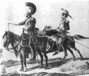 Some of the once proud French heavy cavalry reduced to riding Russian ponies, August 1812 (Faber du Four) Musée de l'Armée-Paris