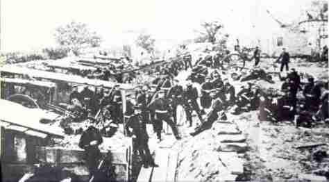 Prussian siege artillery outside Strasbourg