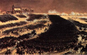 'The Battle of Eylau.' Simeon Fort. (Musee de Versailles)