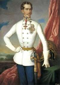 The young Emperor Franz Josef