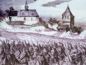 The fighting around Wenzelsberg church.