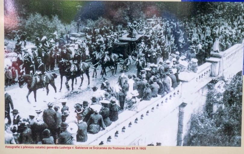 Gablenz's funeral cortege at Trautenau in 1905.