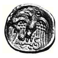 """Some Celtic coins and the """"Testudo"""" as shown on Trajan's column"""