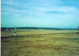 Scene of brief Confederate breakthrough at Pickett's Charge