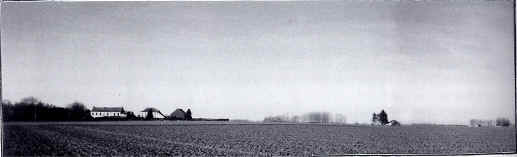 View from the Allied front line looking towards the farm of Blairon.