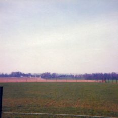 """The view from Bussy, looking towards the French position on """"their"""" left. The line of the Ligny stream marked by the trees in the distance."""