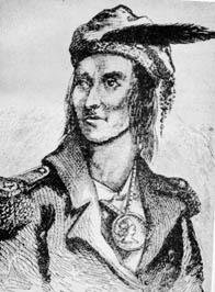 Tecumseh as imagined by Benson J. Lossing (Engraving)
