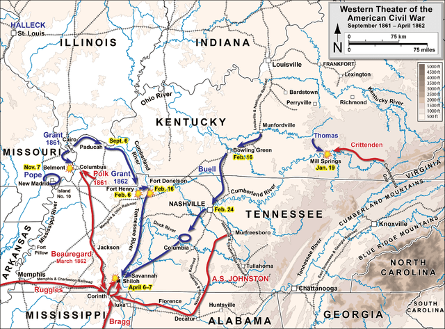 American Civil War Western Theater September 1861 - April 1862