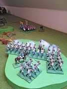 Regiment von Schmidt opens fire