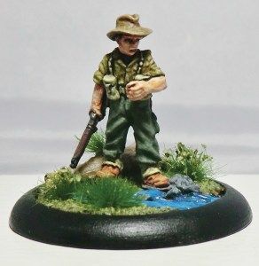 World War II Australian Infantryman Combat Stress Commemorative Miniature