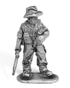 WW2 Australian infantryman unpainted casting front view