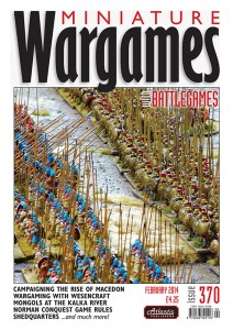 Miniature Wargames with Battlegames issue 370 front cover