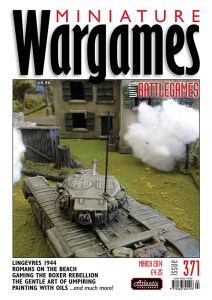 Miniature Wargames with Battlegames issue 371 front cover