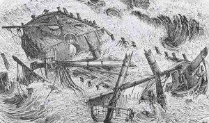 Ship sinking.