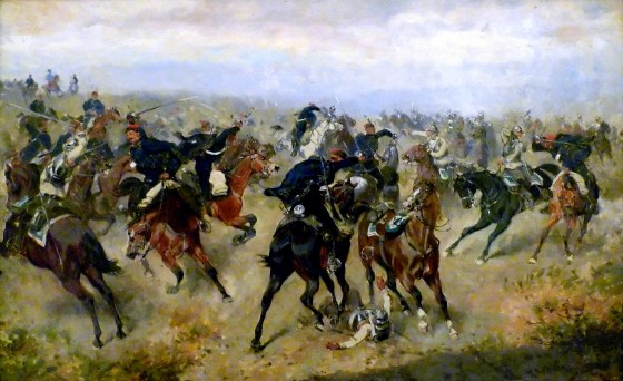 Cavalry engagement at the battle of Königgrätz (Alexander von Bensa, 1866).