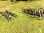 More pretty Prussian cavalry – dragoons and uhlans – 10mm miniatures from Pendraken, painted by Fernando Enterprises. Photo Henry Hyde 2015.
