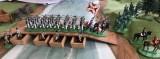 Borg musketeers crossing the completed pontoon bridge.