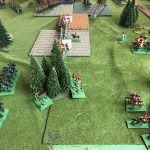 Disaster strikes for the Grenouissians as the Borg hussars carve up their opponents, who turn and flee. However, a cheeky charge by another squadron against the chasseurs à pied is bounced!