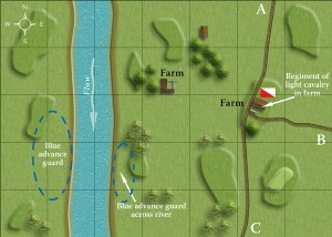 The map for the Pontoon teaser that featured in Battlegames issue 1 and then again in the Table Top Teasers Special.