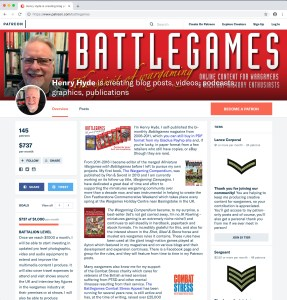 The Battlegames patreon site