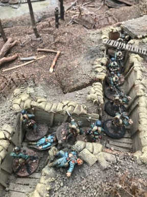 Winner of Best in Show: Angriff auf die Abtei - Chain of Command WWI by Earlswood War Games Club.