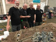 Easrlswood Wargames Group won Best of Show with their WWI Chain of Command game.