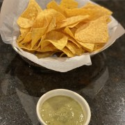 salsa verde and chips Mexican restaurant Kent