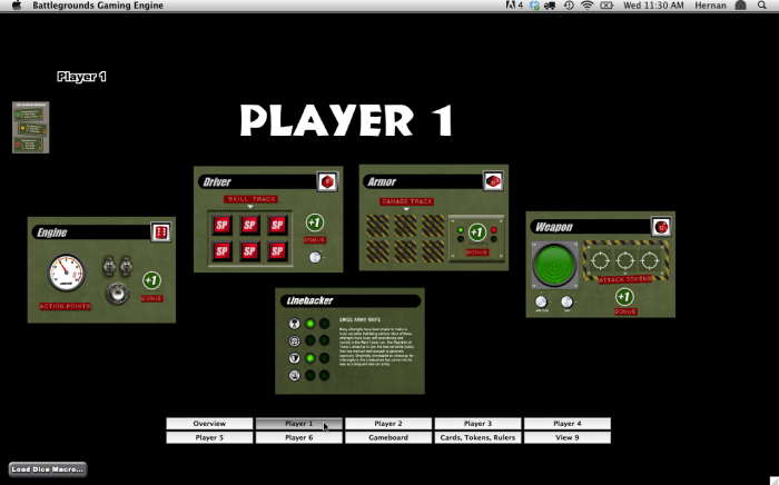 Player_1-Dashboard