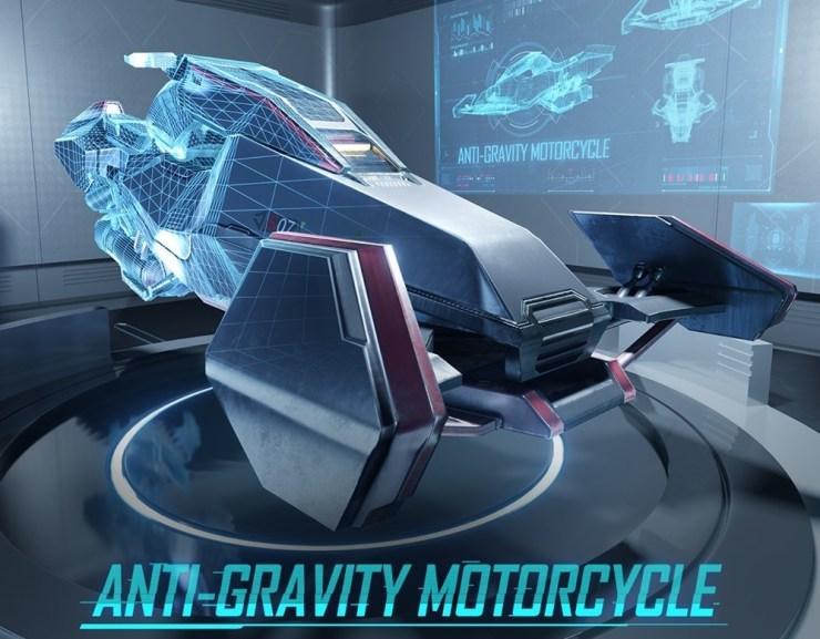 Anti gravity motorcycle - Galaxy Messenger Set