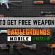 How to Get Free Weapon Skins in Battlegrounds Mobile India