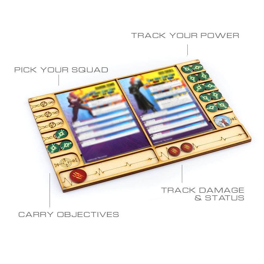 Marvel Crisis Protocol Compatible Character Dashboard