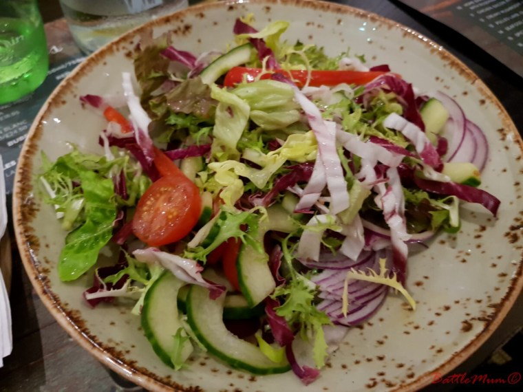 mid-week stay at bluestone - a salad at the oak tree restaurant at bluestone