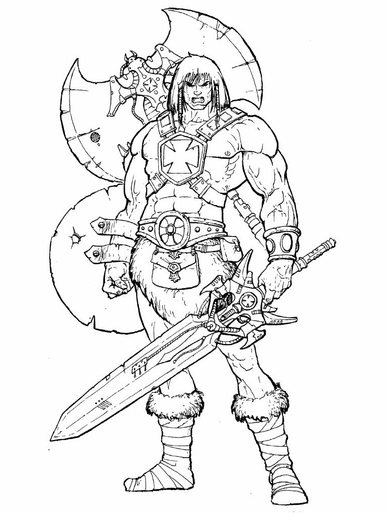 Concept 2002 He-Man, by Four Horsemen Studios. Image via The Art of He-Man.