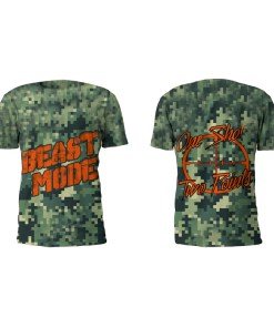 Front and Back View Of The Beast Mode Performance Tee Shirt by Battle Tek Athletics—The Perfect Performance Tee Shirt For Athletic Training, MMA And Grappling Sports