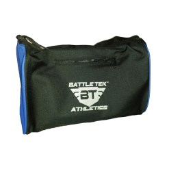 The Small Black With Blue Battle Tek Athletics Duffel Bag Offers An Alternative To Larger Gym or Duffel Bags For Personal and Athletic Gear Transport
