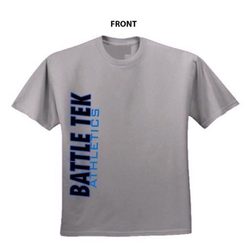 Battle Athletics Simple Grey Side Print Performance T-shirt