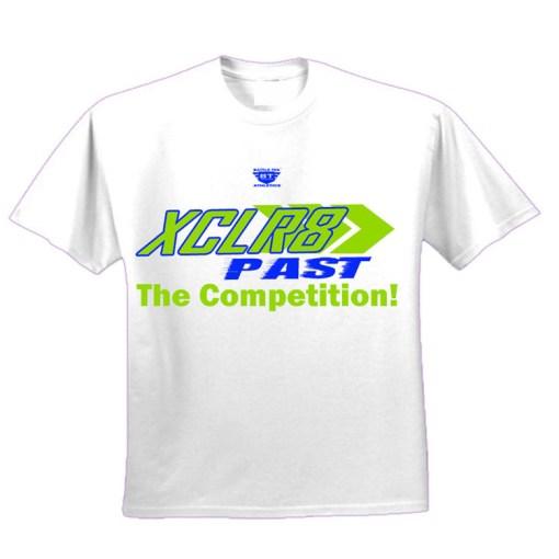 White and Green Battle Tek Athletics XCLR8 Performance Tee Shirt
