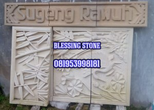 Ornamen Sugeng Rawuh Batu Paras