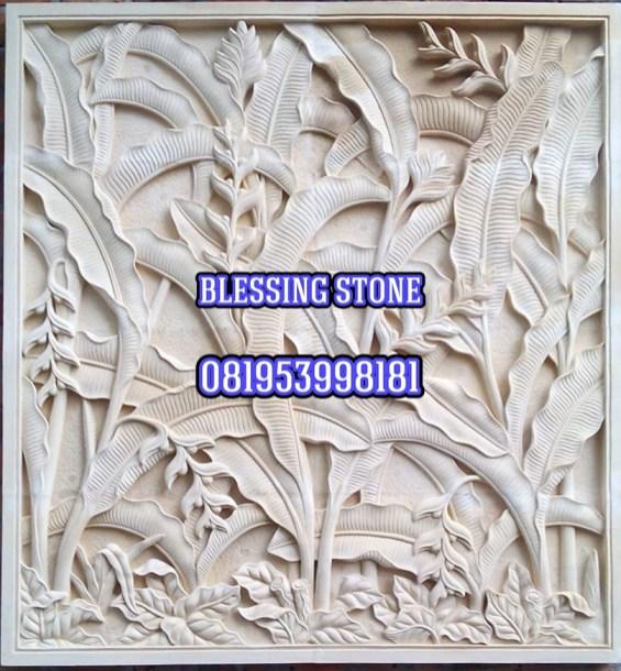 Relief batu paras batu ukir jogja relief-motif-pisang-