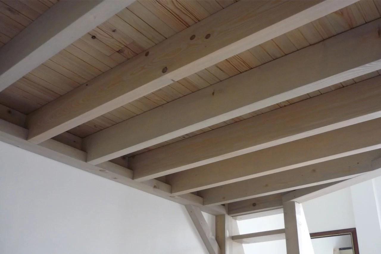 aménagement intérieur mezzanine, cloison, escalier