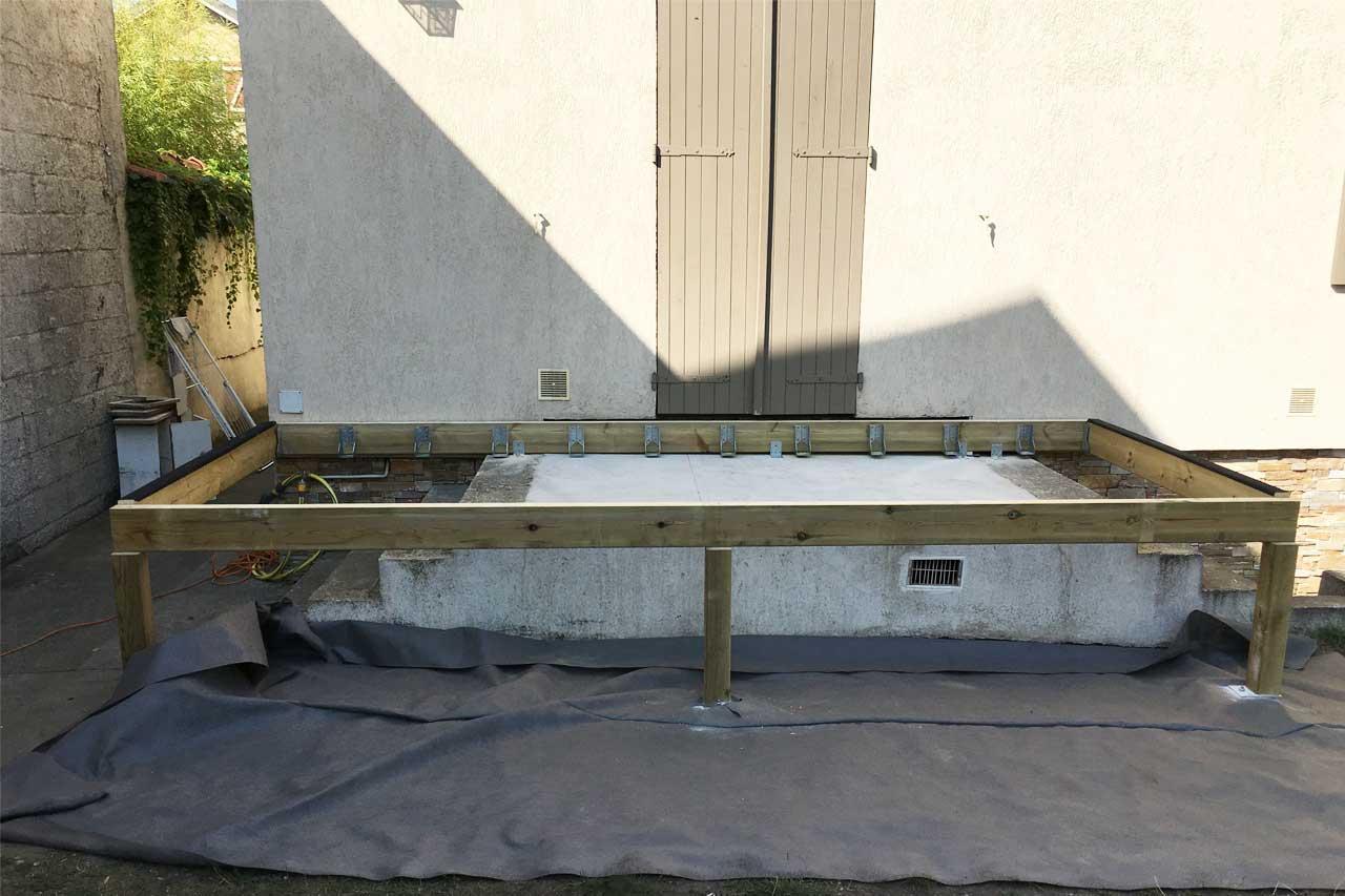 Am nagement ext rieur en bois terrasse pergola kiosque for Bois construction exterieur