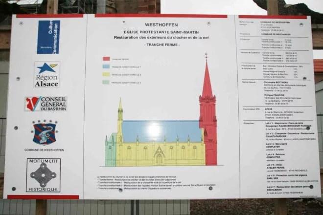 restauration charpente bois église saint martin westhoffen
