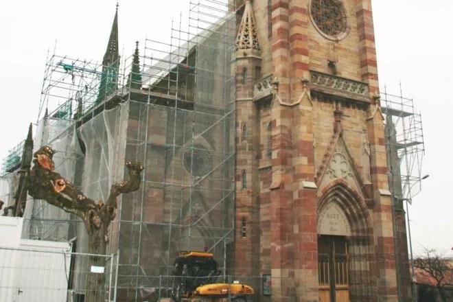 charpente traditionnelle refection monument historique église 67