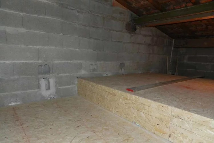 aménagement de combles création de plancher