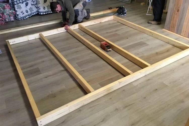 cloison ossature pour aménagement intérieur bois